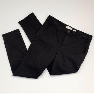 Anthropologie HEI HEI Black Cotton Chino Pants
